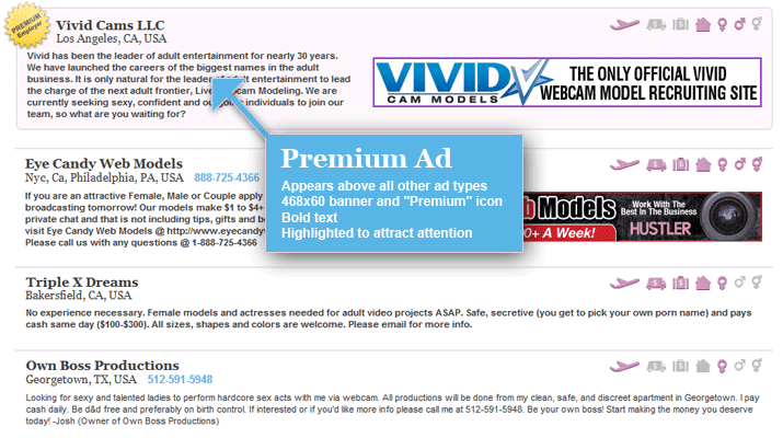 Text Ad: Appears below the other ad types, No banner, No bold ad.